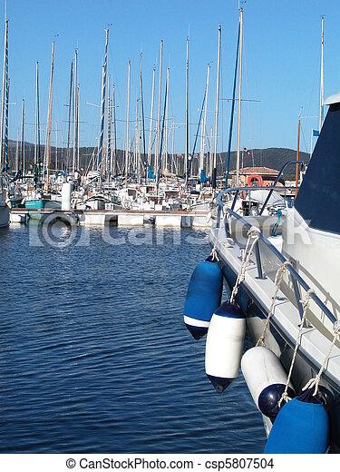 Sailboat marina - csp5807504