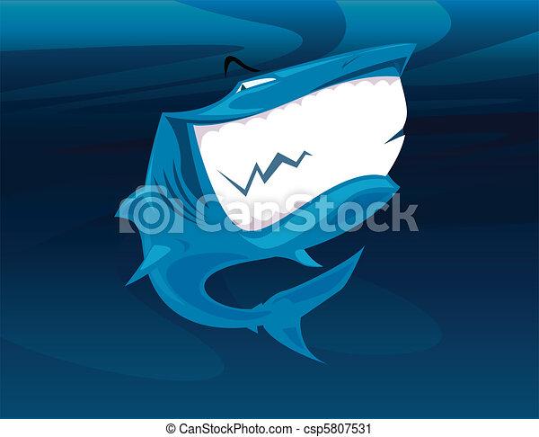 Smiling shark - csp5807531