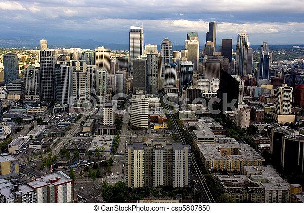 Panorama Seattle - csp5807850