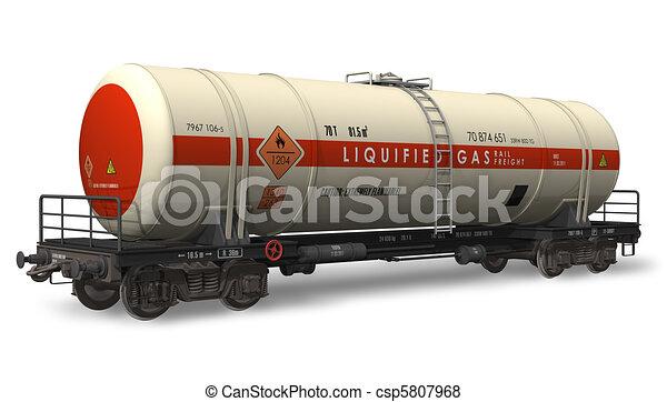 Gasoline tanker railroad car - csp5807968