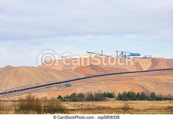 Zielitz potash salt dump 01 - csp5808338