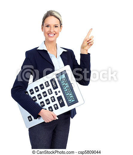 Accountant business woman - csp5809044