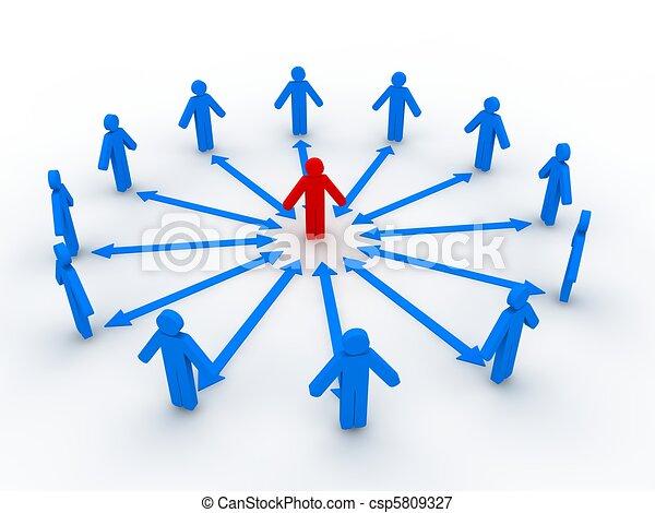 Social Network Concept  - csp5809327