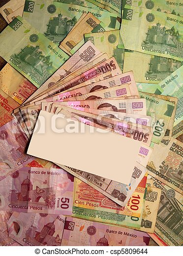 Mexican Peso currency notes banknotes - csp5809644