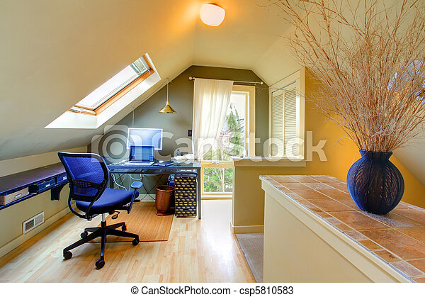 Attic cozy home office - csp5810583