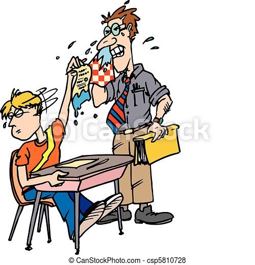 sick teacher - csp5810728