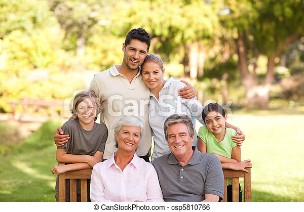 Family in the park - csp5810766