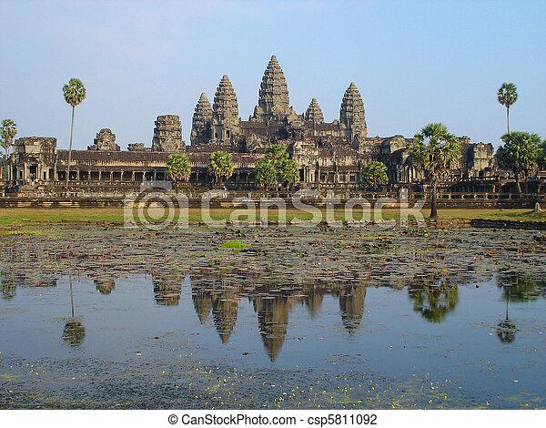 Angkor Wat, Cambodia - csp5811092
