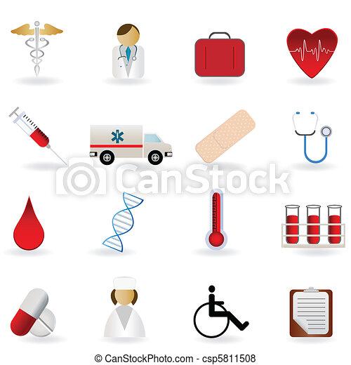 Medical and healthcare symbols - csp5811508