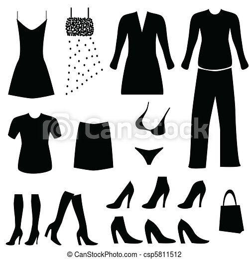 Female clothing and accessories - csp5811512
