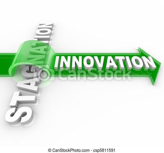 Innovation vs Stagnation - Creative Change Versus Status Quo - csp5811591