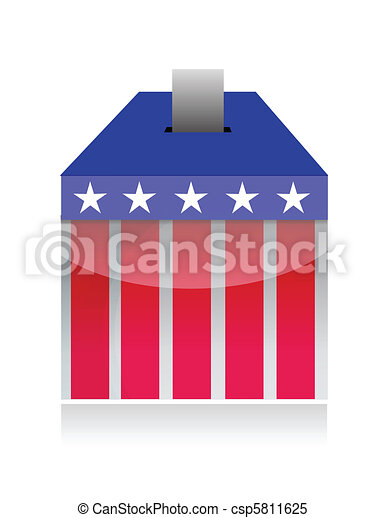 vote poll ballot box  - csp5811625