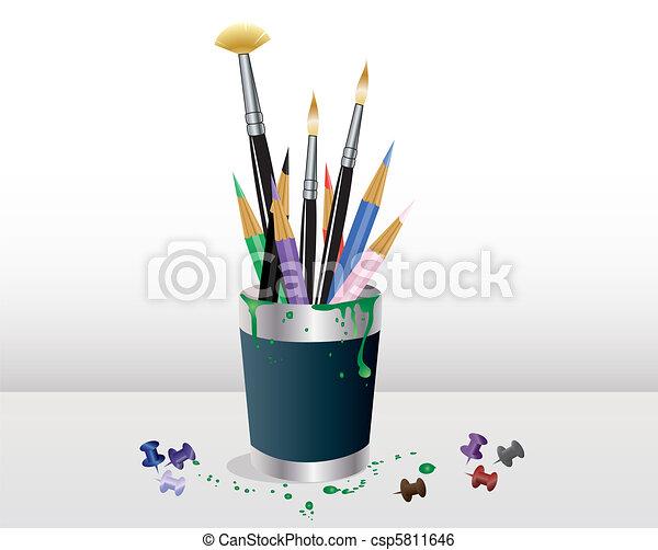 Art supplies - csp5811646
