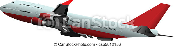 Passenger Airplanes.  Colored Vect - csp5812156