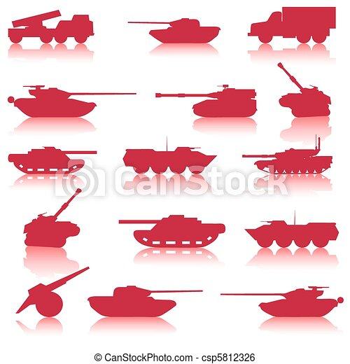 Collection set of tanks of guns  - csp5812326