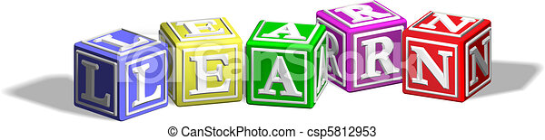 Learn alphabet blocks - csp5812953