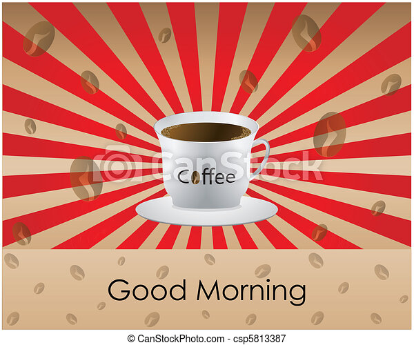 Good Morning coffee  - csp5813387