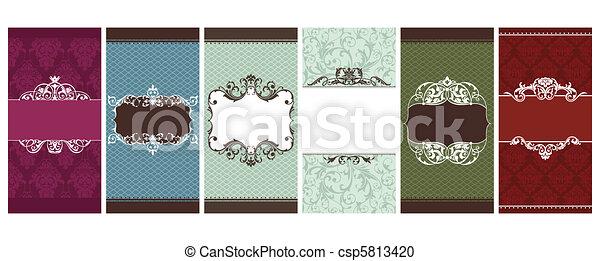 set of invitation cards - csp5813420