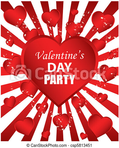 Valentines Day Party Clipart #1