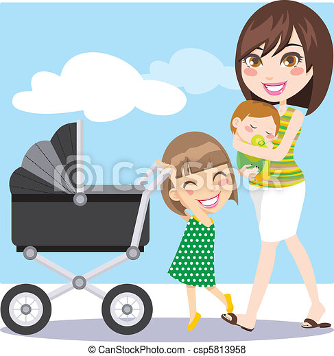 Mother Walking - csp5813958