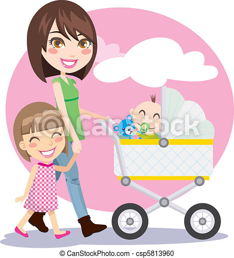 Mother Walking - csp5813960
