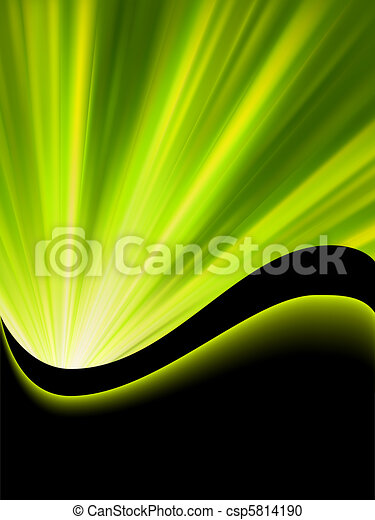 Bright blast green tone background. EPS 8 - csp5814190