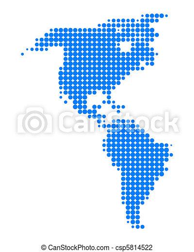 Map of America - csp5814522
