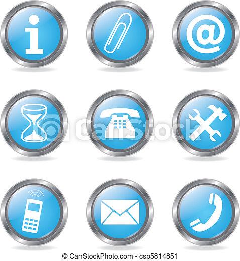 Set Service Buttons - csp5814851