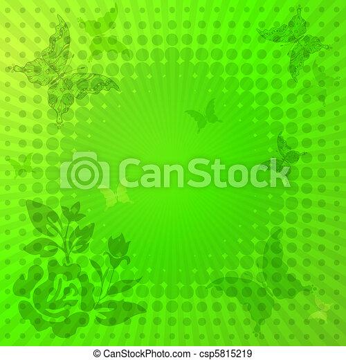 Decorative vivid green frame - csp5815219