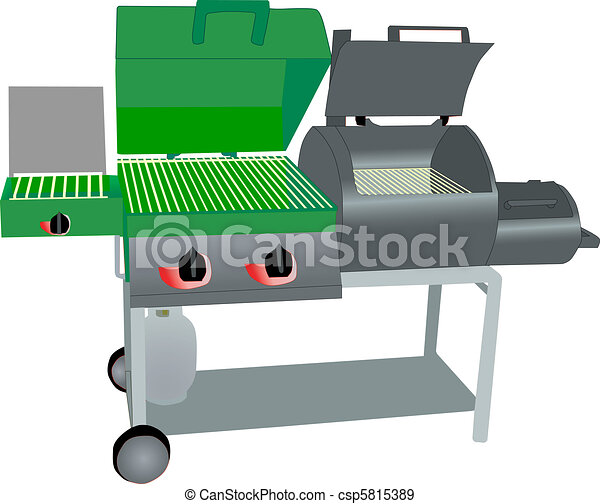 combo gass grill and smoker - csp5815389