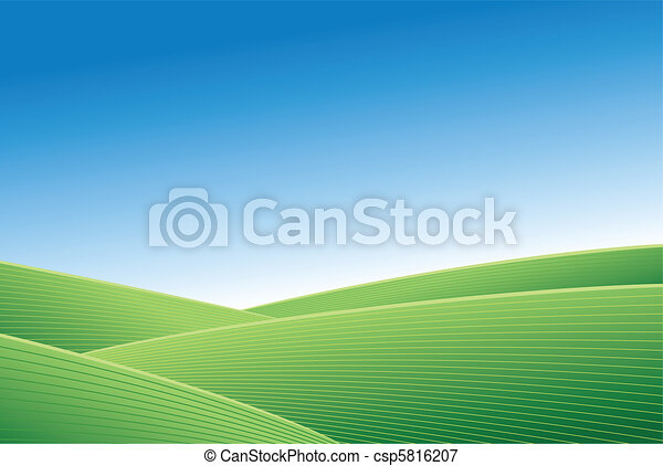 Green field and blue sky - csp5816207
