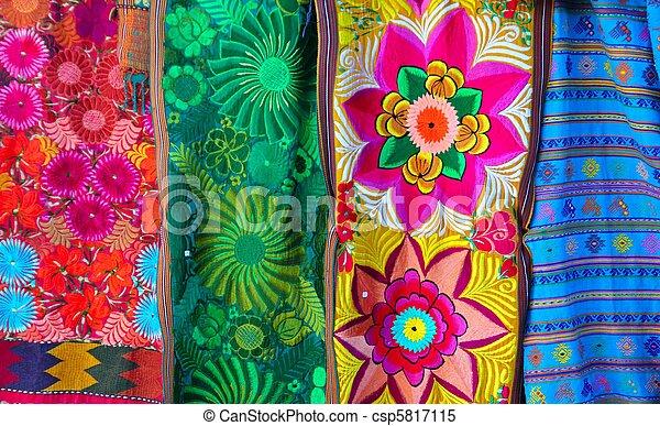 stock bilder von mexikanisch bunte serape traditionelle stickerei bunte csp5817115. Black Bedroom Furniture Sets. Home Design Ideas