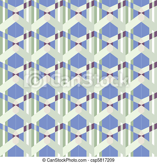 seamless funky blue pattern - csp5817209