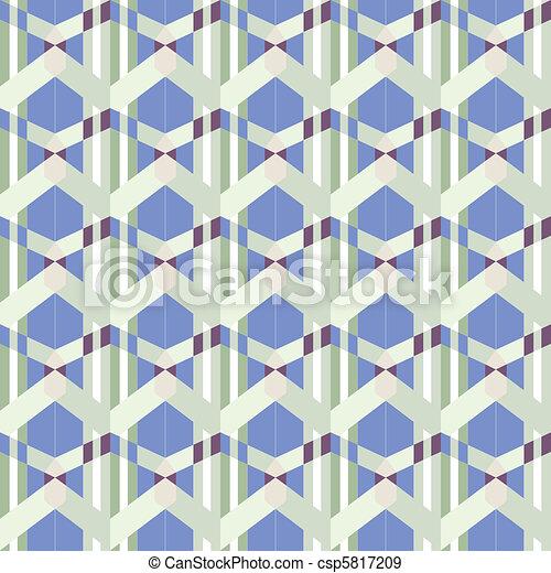 seamless funky blue pattern - csp5817209
