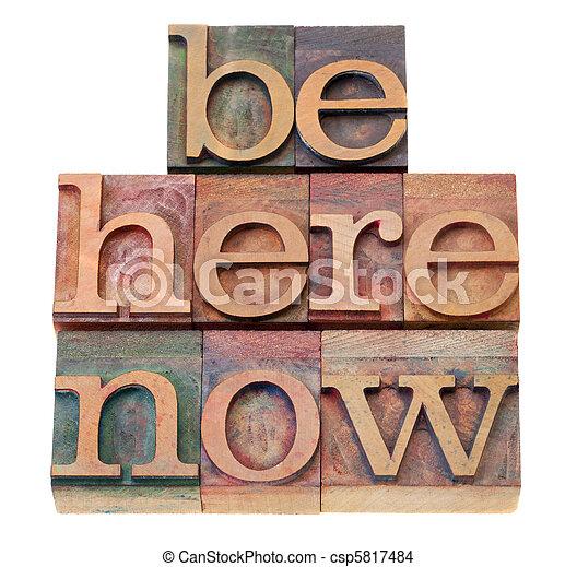 motivational reminder in letterpress type - csp5817484