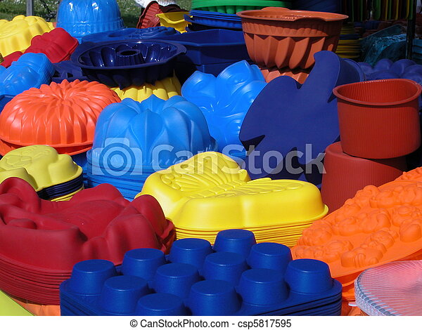 Stock Images of Silicone baking pans