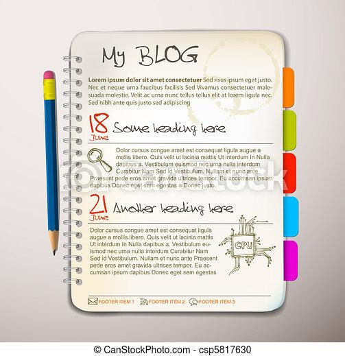 Blog web site template - csp5817630