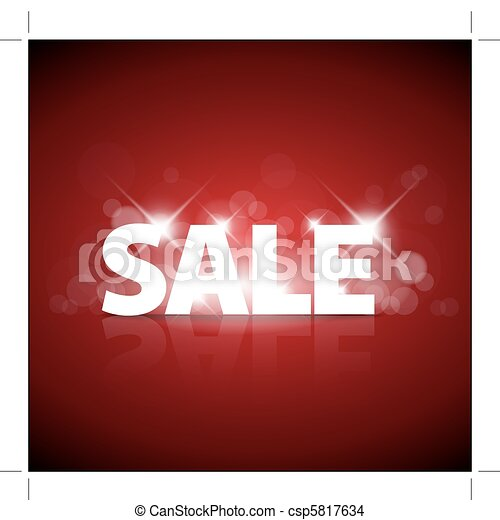 Big red sale advertisement - csp5817634
