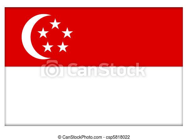 Republic of Singapore Flag - csp5818022