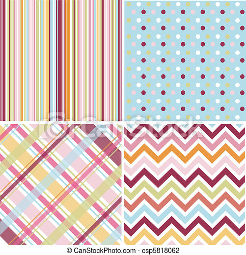 seamless patterns, fabric texture - csp5818062