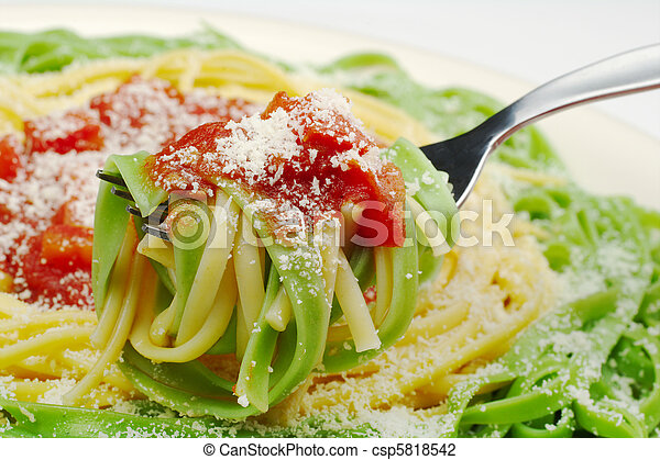 Pasta with Tomato Sauce and Cheese - csp5818542