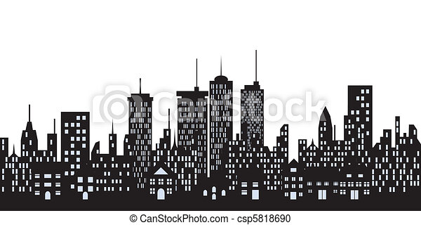 Tall Buildings Drawings Urban Buildings in The City