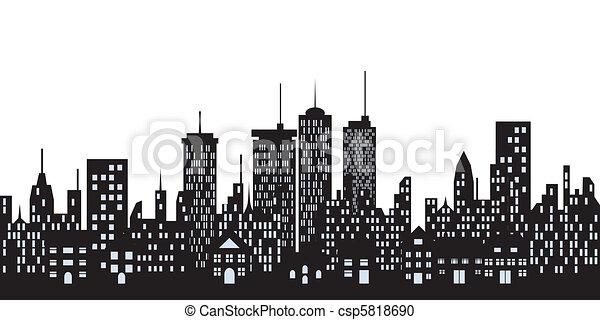Urban buildings in the city - csp5818690