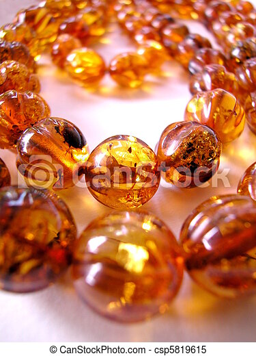 Amber necklace - csp5819615