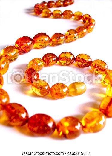 Amber necklace - csp5819617