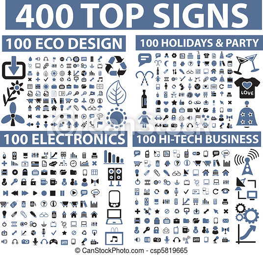 400 top signs - csp5819665