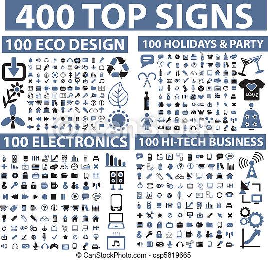 400 top signs - csp5819665