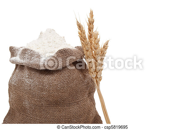 Flour and wheat ears - csp5819695