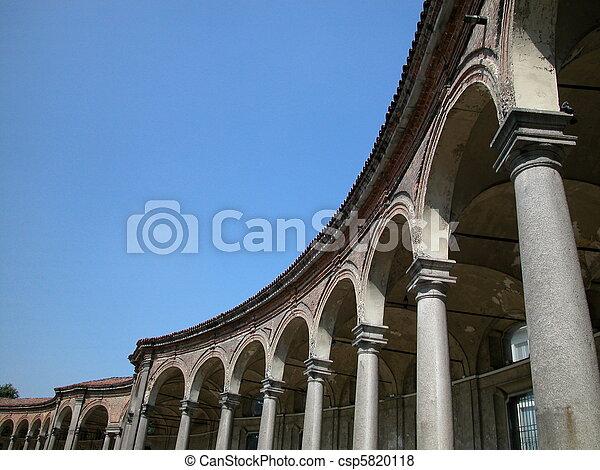 Arcade of Rotonda Besana, Milan - csp5820118