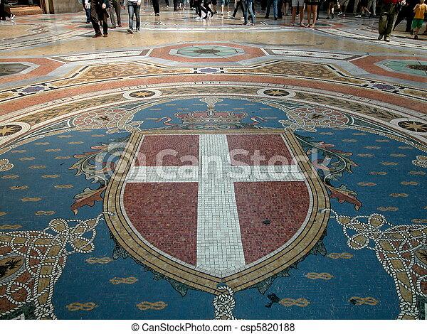 Gallery Vittorio Emanuele II, Milan - csp5820188
